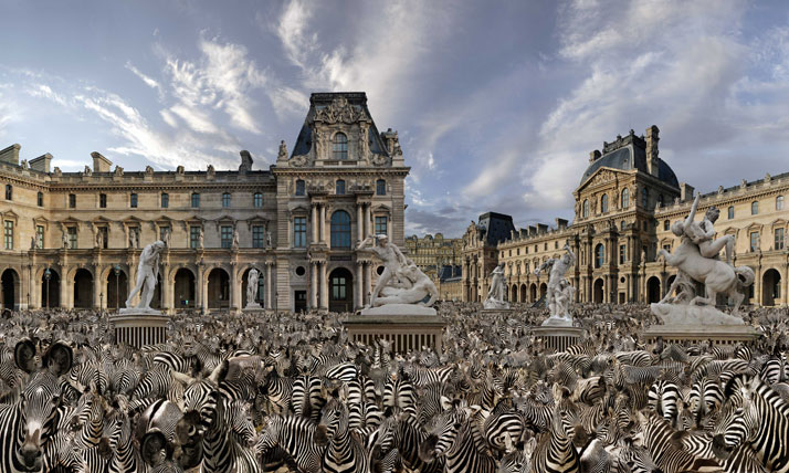 Palais Royal, 2011, C-Print, 120 x 200 cm, photo credit Jean-François Rauzier