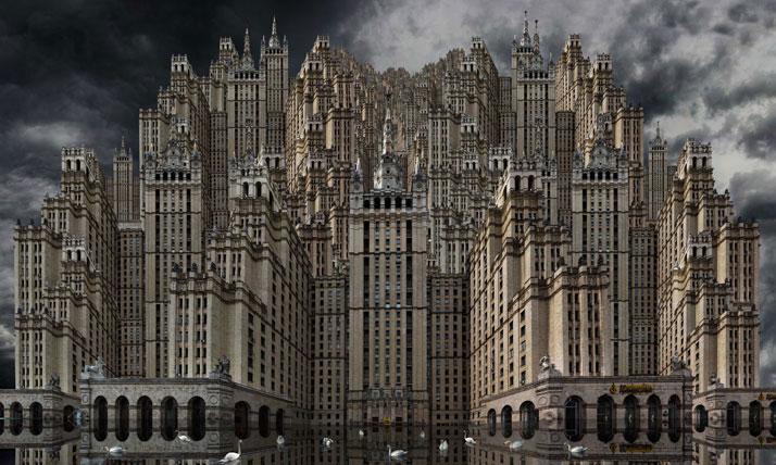 Tours Staline, 2011, C-Print, 180 x 300 cm, photo credit Jean-François Rauzier