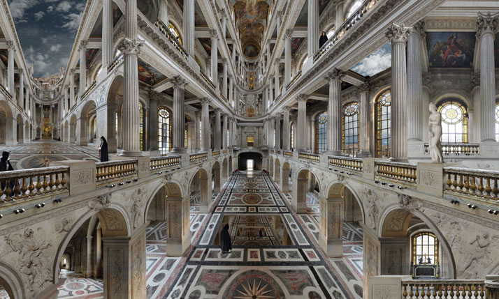 Chapelle royale, 2010, C-Print, 150 x 250 cm, photo credit Jean-François Rauzier