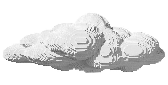 Large Cloud, In Pieces 2012, Plastic Bricks, 20.0 x 22.0 x 47.0 inches, edition of 7Photo courtesy of InPiecesCollection.com