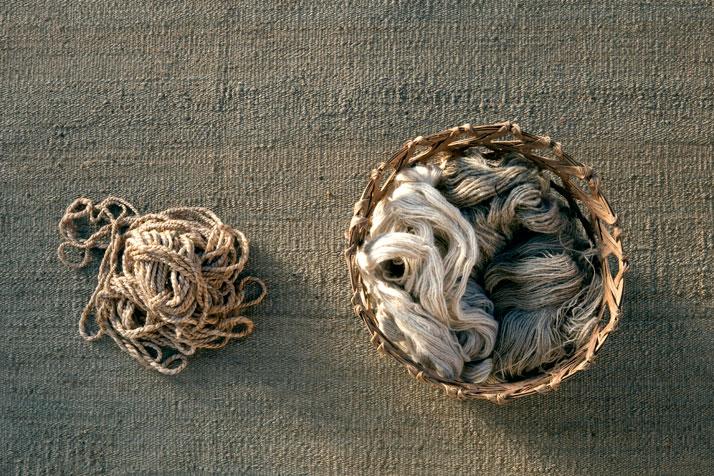 Nettle, jute, silk and afghan wool, photo © Nanimarquina