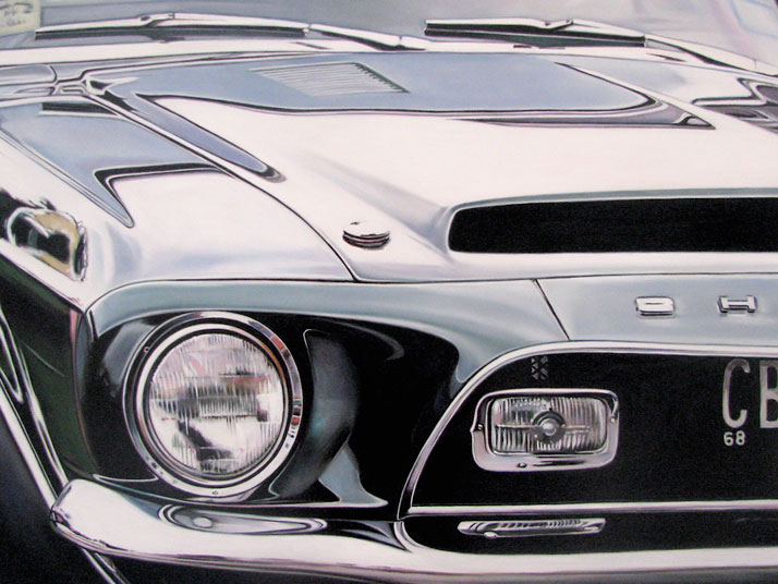 "Green Shelby, 2009, oil on aluminum panel, 18 x 24""© Cheryl Kelley, Courtesy of Bernarducci Meisel Gallery"