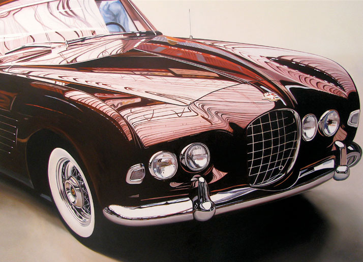"Cadillac, 2010,  oil on aluminum panel, 30 x 40"" © Cheryl Kelley, Courtesy of Bernarducci Meisel Gallery"