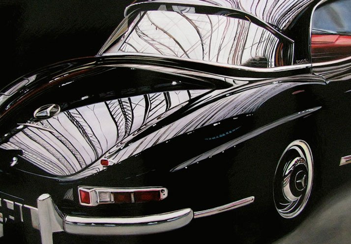 Mercedes, Oil on aluminum, 18 x 24 inches© Cheryl Kelley, Courtesy of Bernarducci Meisel Gallery