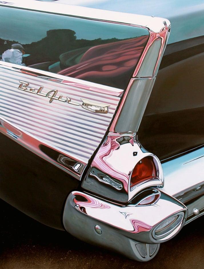 "Bel Air with Pink, 2013 oil on aluminum panel, 23 x 30"" © Cheryl Kelley, Courtesy of Bernarducci Meisel Gallery"