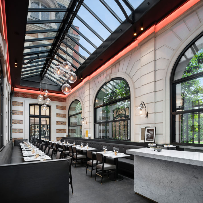 Café Artcurial, design Agence Charles Zana, photo by Jacques Pépion, Courtesy of Café Artcurial