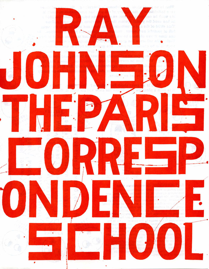 RAY JOHNSONSans titre / Untitled, Non daté / UndatedCourrier / Mailing 27,9 x 21,6 cm Courtesy Richard L. Feigen & Co. © Ray Johnson Estate