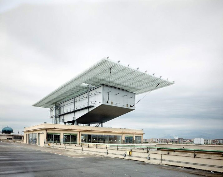 The Lingotto building, photo by Massimo ListriCourtesy of Pinacoteca Giovanni e Marella Agnelli