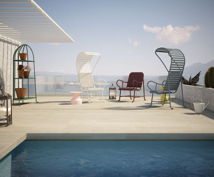 Gardenia armchairs with or without a pergola, 3D rendering © Jaime Hayon & BD Barcelona Design