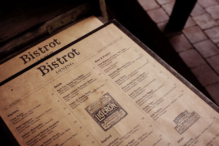 Vintage french ads in the Menu, photo © Fabien Barral