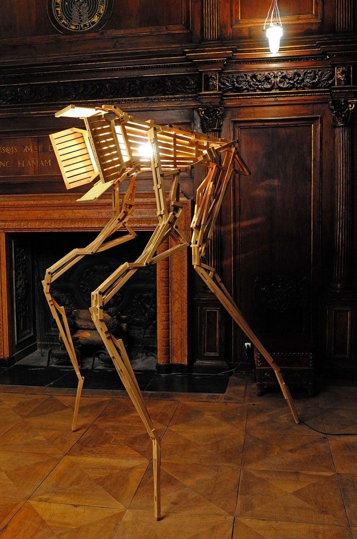 Hyperion Light by Paul Heijnen. Wood and Metal. Photo by Tatiana Uzlova.