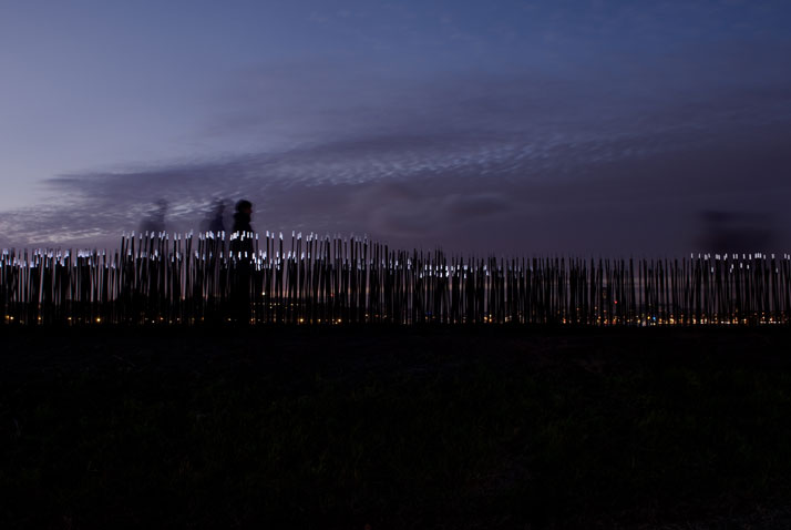 DUNE 4.2 at the Maas River in Rotterdam, NL. Video © Studio Roosegaarde.