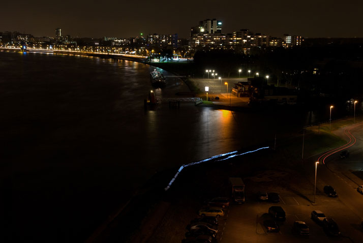 DUNE 4.2 at the Maas River in Rotterdam, NL. Photo © Studio Roosegaarde.