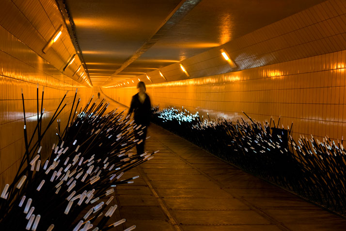 DUNE 4.1 at the Maastunnel in Rotterdam, NL. Photo © Studio Roosegaarde.