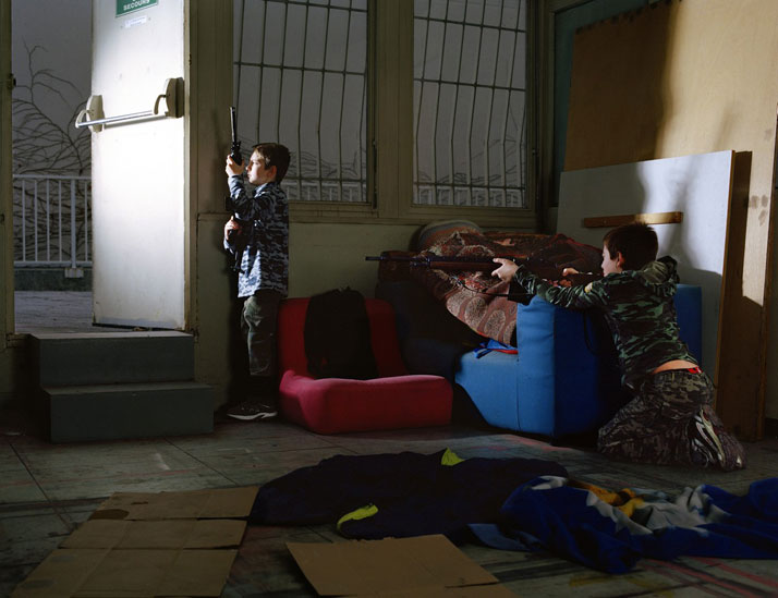 "Florent Mattei, ""Players"", 2012, Print Photo, 100x130 cm. Courtesy of Galerie Laureen Thomas (Cagnes sur Mer, France)."