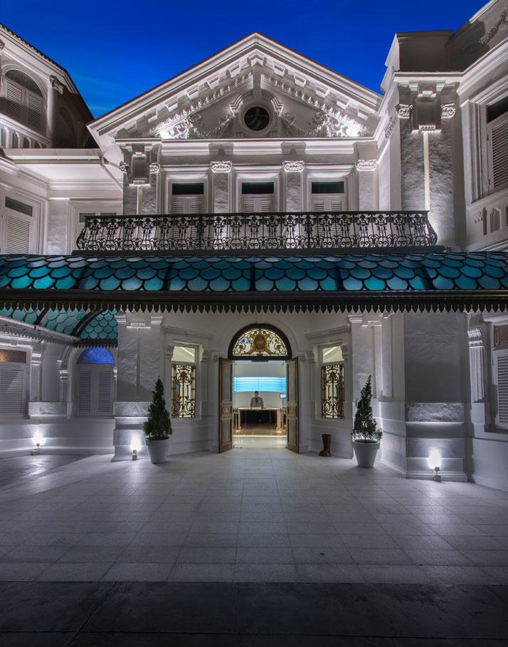 Entrance to Hotel, photo © Macalister Mansion, Design Hotels.