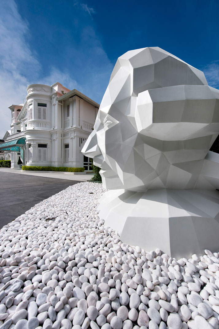 The sculpture of Sir Norman Macalister curated by Ministry of Design and made by Sculpture at Work, photo © Macalister Mansion, Design Hotels.