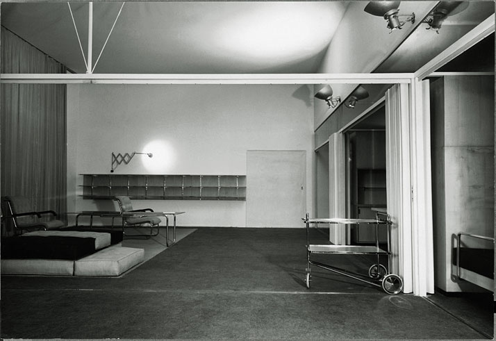 House for a sports personality, with a living area that incorporates a gym.© Wanda von Debschitz-Kunowski, Marcel Breuer Papers, Archives of American Art, Smithsonian Institution, Washington, D.C.