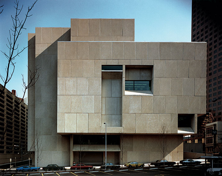 Atlanta Central Public Library, Atlanta, Georgia, (1977-1980, with Hamilton P. Smith).© Architectural Photography of Atlanta - Marcel Breuer Papers, American Art archives, Washington, D.C.