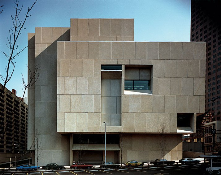 Atlanta Central Public Library, Atlanta, Georgia, (1977-1980, with Hamilton P. Smith).© Architectural Photography of Atlanta - Marcel Breuer Papers, American Art archives, Washington, D.C.