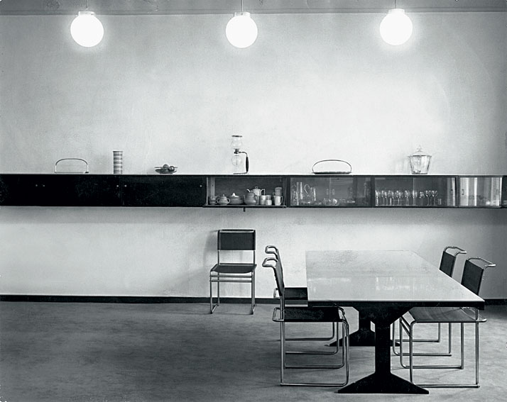 Dining room at the Piscator apartment, Berlin, 1927.© Photo Cami Stone - Marcel Breuer Papers, American Art archives, Washington, D.C.