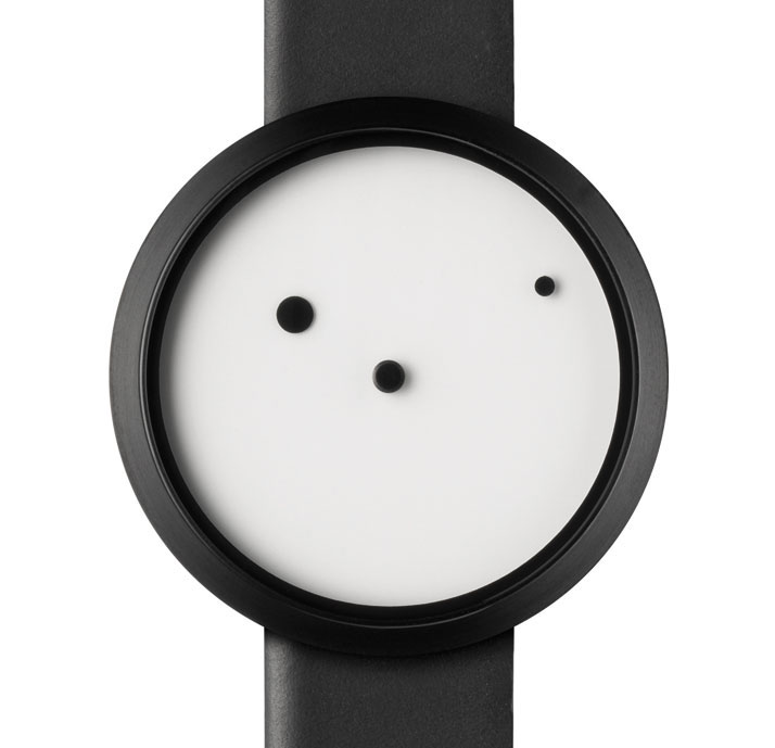 Ora Lattea by young Italian designer Denis Guidone and manufactured by Italian brand Nava. Photo © Dezeen Watch store.