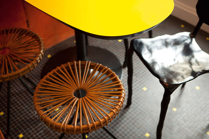 Chairs by Marteen Baas, table by India Mahdavi. Photo © Derek Hudson.
