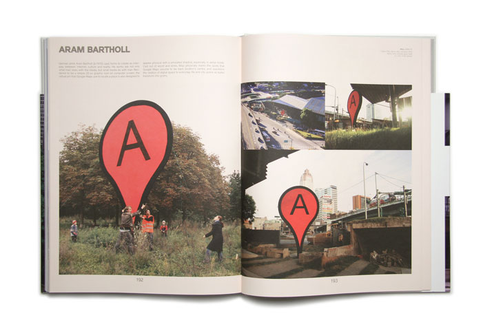 Map 2006-2010 by Aram Bartholl.Picture of the project featured inside the OVERS!ZE book © Viction:ary.