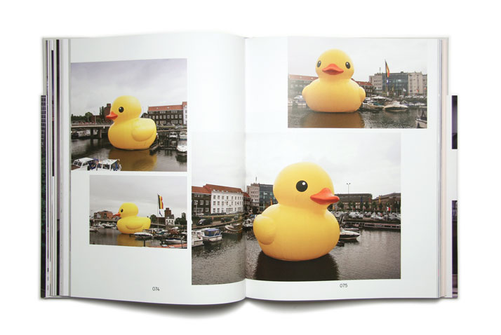 Rubber Duck by Studio Florentijn Hofman.Picture of the project featured inside the OVERS!ZE book © Viction:ary.