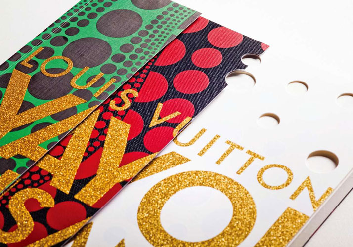 Louis Vuitton / Yayoi Kusama Fine Book (2012) by WORK.Photo: WORK, Ivan Joshua Loh, Client: Louis Vuitton Japan.Special credits: alsoDominie (Singapore), ASHU Nakanishiya Co., Ltd.