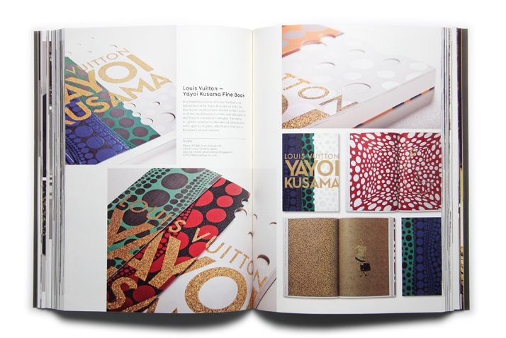 Louis Vuitton / Yayoi Kusama Fine Book (2012).Picture of the project featured inside the GOLD & SILVER book © Viction:ary.