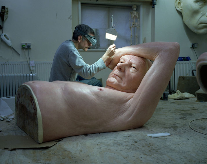 Ron Mueck's Studio, January 2013 © Ron Mueck.Photo © Gautier Deblonde.
