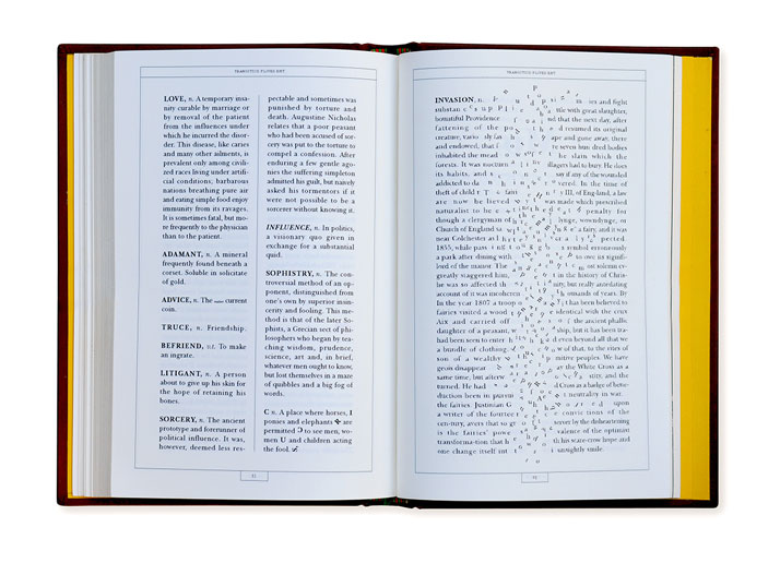 Ambrose Bierce's ''The Devil's Dictionary''. A Typographic Interpretation by Astrid Stavro. Photo © The Publishing Lab.