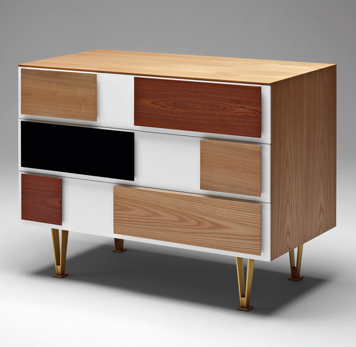 Chest of drawers from Ponti's Cassettone series designed in 1956. Courtesy of Molteni&C.