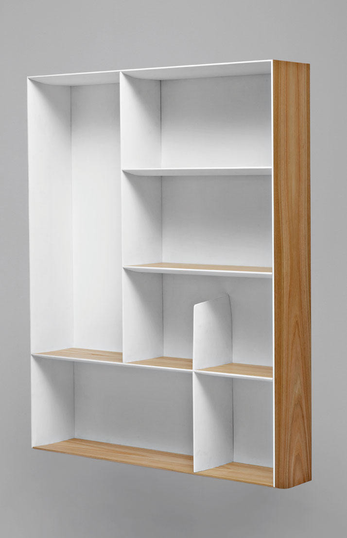 Bookcase designed in 1956-1957 for Ponti's house on via Dezza in Milan. Courtesy of Molteni&C.