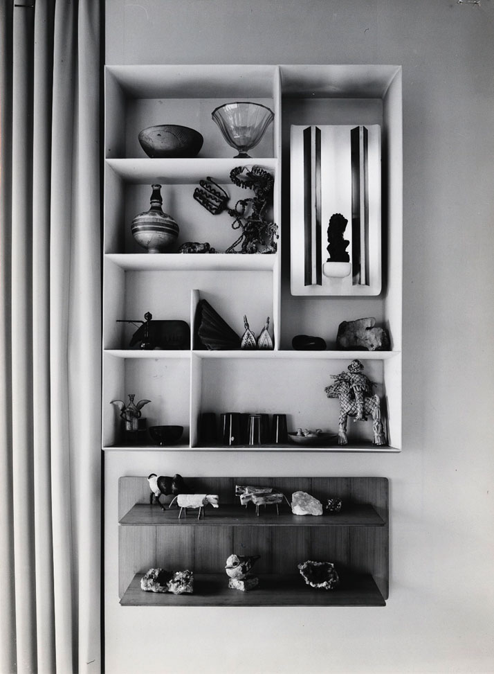 Casa via Dezza library, courtesy of Gio Ponti Archives.