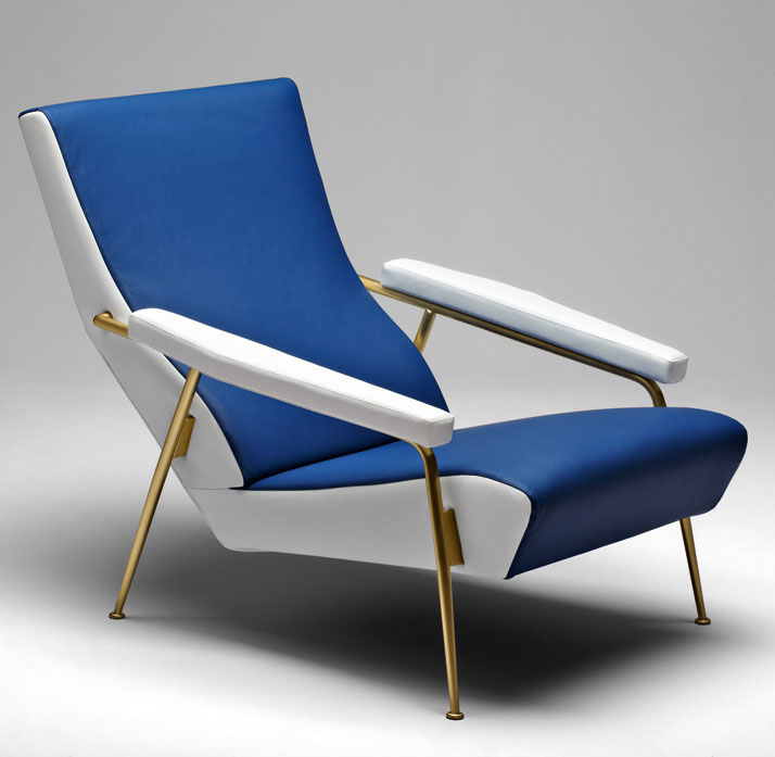 Armchair designed by Gio Ponti in 1953. Courtesy of Molteni&C.