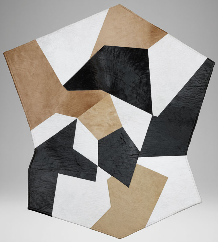 Molteni's Gio Ponti rug, 1954. Made of pony leather in several colours. Courtesy of Molteni&C.