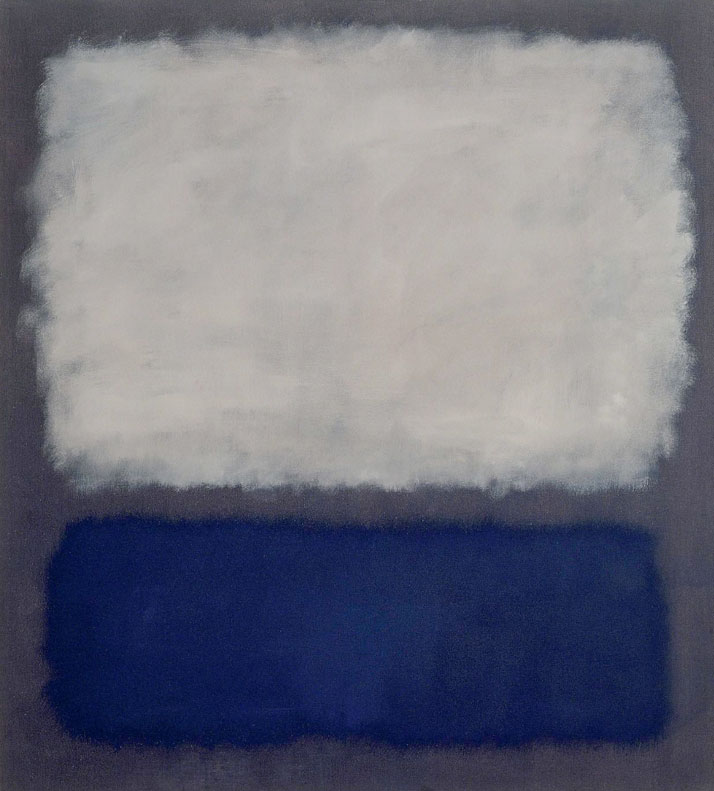Mark Rothko, Blue and Grey, 1962.Oil on canvas,  193 × 175 cm.Photo: Robert Bayer, Basel.© 2012 Kate Rothko Prizel & Christopher Rothko / Artists Rights Society (ARS), New York / VEGAP, © Fondation Beyeler, Switzerland.