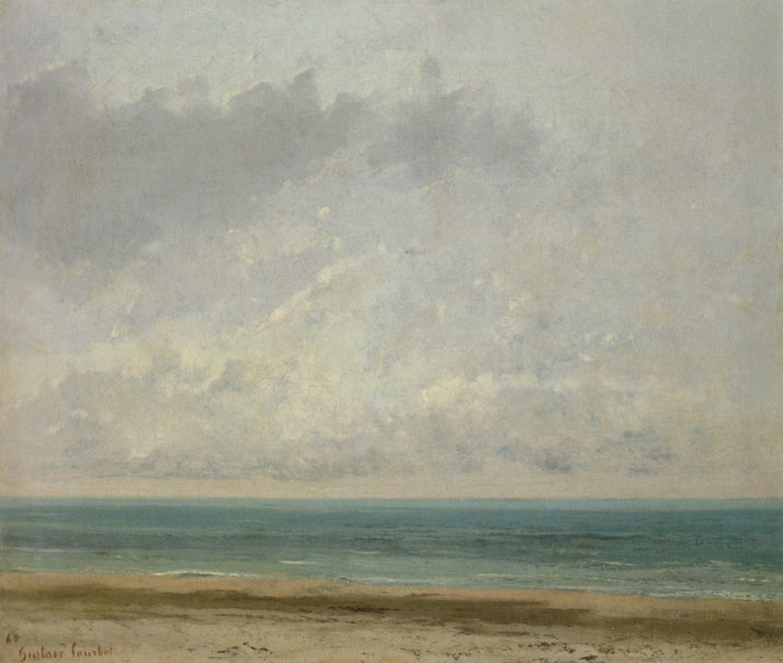 Jean Désiré Gustave Courbet, Calm Sea, 1866. Oil on canvas | 541 x 639 mm.© National Gallery of Art, Washington DC.