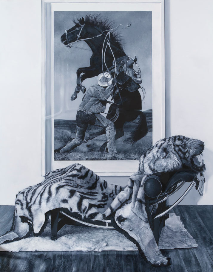 Michael ZavrosThe Tiger, 2012oil on canvas210.0 x 170.0 cmCourtesy of the artist and Philip Bacon Galleries