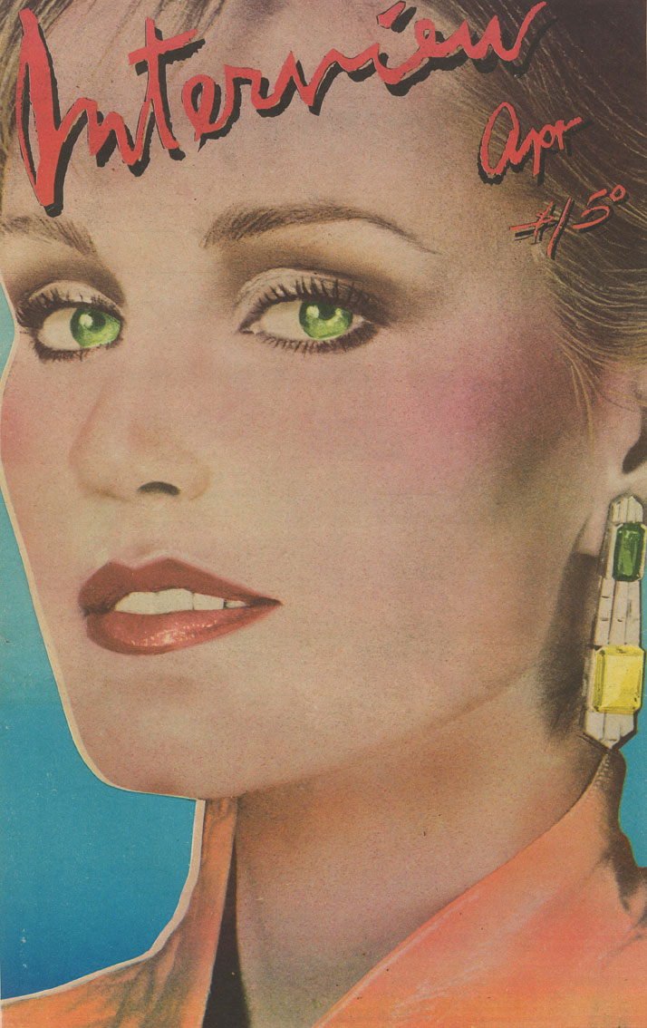 Cover    of the April 1979 edition of Interview, featuring the actress Jessica    Lange wearing impressive Bulgari earrings. Founded in 1969 by Andy    Warhol, the magazine was known both for its avant-garde graphics and for    its interviews with celebrities, who were a constant sours of    fascination for the artist. Nicola Bulgari was interviewed for the    magazine in 1980.
