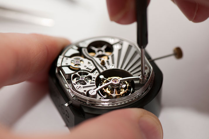 Carillon Tourbillon assembly. Photo © Bulgari Archives.