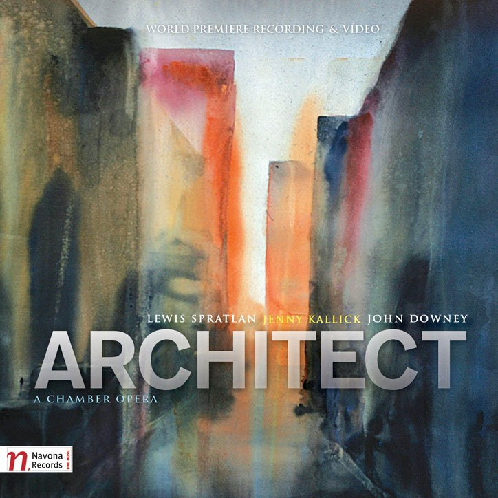 ARCHITECT by Navona Records. (Featuring a watercolor artwork by Michiko Theurer on the cover)