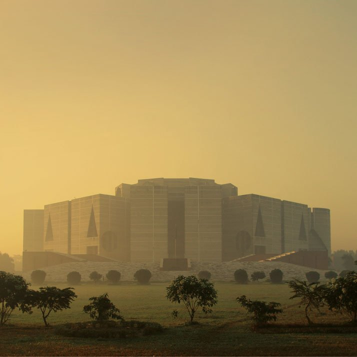 National Assembly Building in Dhaka, Bangladesh, Louis Kahn, 1962–83