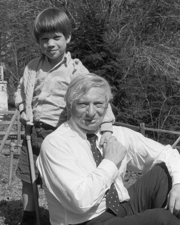Louis I. Kahn and  Nathaniel Kahn, ca.1970.Photo by Harriet Pattison, © 2003 Louis Kahn Project, Inc.