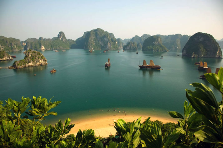 Titov Island, HaLong Bay, Vietnam.photo © Alex Stoen.