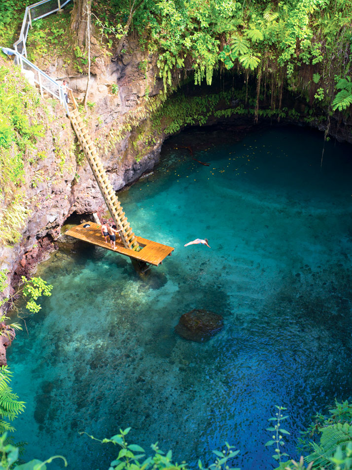 The Sua Ocean Trench in Lotofaga, Upolu island in Samoa.photo © Unknown.