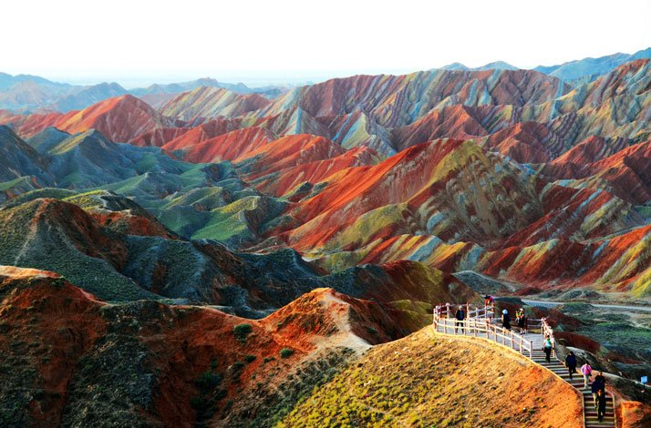 Zhangye Danxia Landform Geological Park in Gansu Province, China.photo © Unknown, source.
