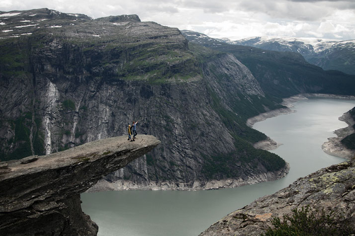 Trolltunga (The Troll's tongue) above Skjeggedal in Odda, Norway.photo © Oleg Kleshchook.